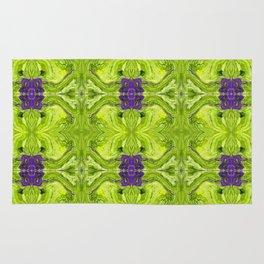 Acrylic Pour Pattern (Green/Purple) Rug