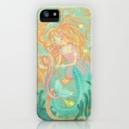 Mermaid Wishes & Seahorse Kisses iPhone Case