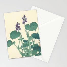 Ohara Koson Japanese Woodcut with Flowers Stationery Cards