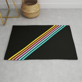 Minimal Abstract Retro Stripes 80s Style - Bakunawa Rug