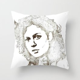 Ellen Ripley sketch- Sigourney Weaver- Alien Throw Pillow