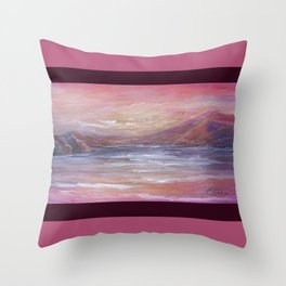 Landscape in Pink MM150601 Throw Pillow