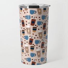 Coffee Love - Brown and blue palette Travel Mug