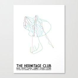The Hermitage Club, VT - Minimalist Winter Trail Art Canvas Print