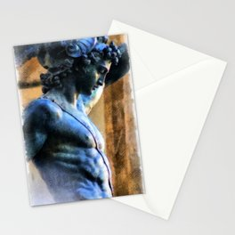 Perseus Greek Hero Statue Illustration Stationery Cards