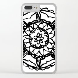 Abstract Bohemian Pattern Clear iPhone Case