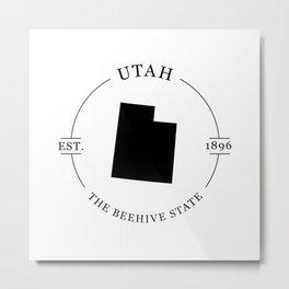 Utah - The Beehive State Metal Print