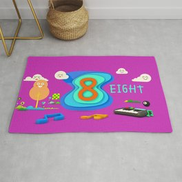 Number eight - Kids Art Rug