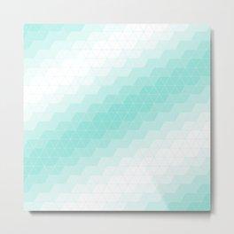 Blue Tiffany Triangles Metal Print