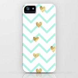 Love Sign on Zigzag Line Background iPhone Case