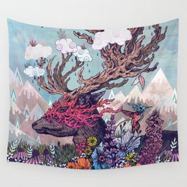 Journeying Spirit (deer) Wall Tapestry
