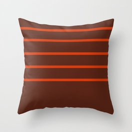 Stripes brown and red Throw Pillow