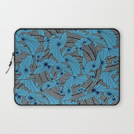 Mandala Blue Grey Abstract Laptop Sleeve
