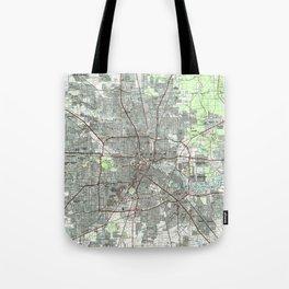 Houston Texas Map (1992) Tote Bag