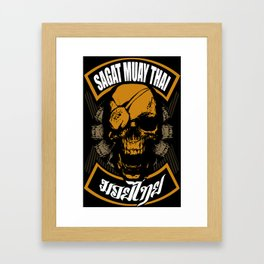sagat muay thai thailand fighter heroes traditional martial art Framed Art Print