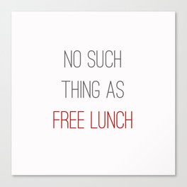 FREE LUNCH 2 Canvas Print