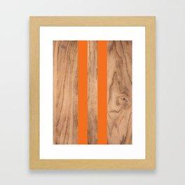 Wood Grain Stripes - Orange #840 Framed Art Print