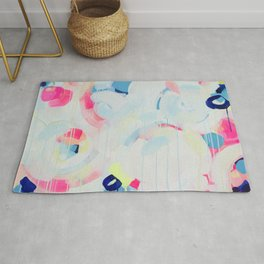 Instant Crush - Abstract painting by Jen Sievers Rug
