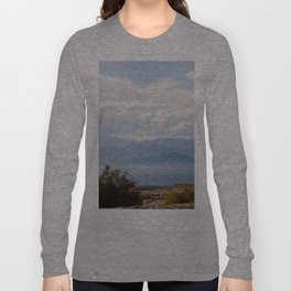 Salton Sea Mountain Lake Lanscape Coastal Beach Colored Print Long Sleeve T-shirt