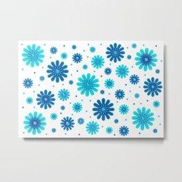 Flowers pattern 215 Metal Print