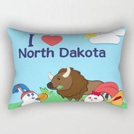 Ernest and Coraline | I love North Dakota Rectangular Pillow