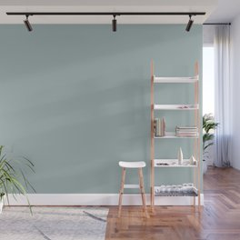Pastel Blue Green Inspired By PPG Glidden Blue Willow PPG1145-4 Solid Color Wall Mural