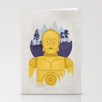 c3po Stationery Cards featuring C3PO by Robert Scheribel