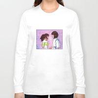 chihiro Long Sleeve T-shirts featuring Chihiro and Haku by Kimberly Castello