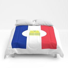 Paris Yellow Vest French revolution #society6 #decor #buyart #artprint Comforters