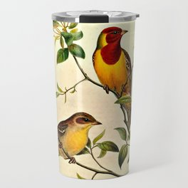 Red-Headed Bunting Travel Mug