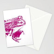 pink frog IV Stationery Cards