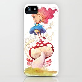 Girl and Shroom iPhone Case