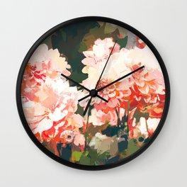 Blush #nature #digitalart Wall Clock
