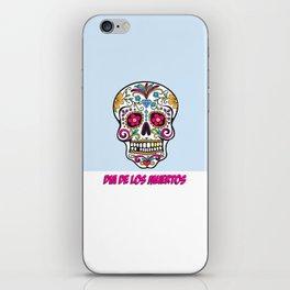 Skull Dia de los Muertos iPhone Skin