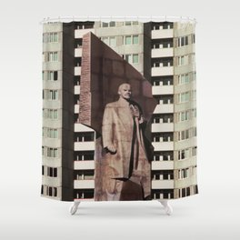 East berlin Lenin Statue Shower Curtain