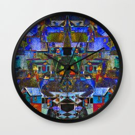 Town houses abstract Wall Clock