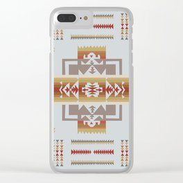 American Native Pattern No. 164 Clear iPhone Case