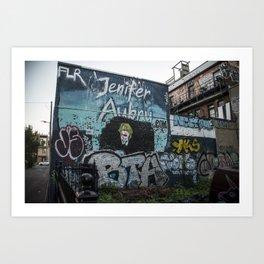 Blue Street Art Art Print