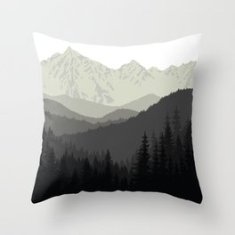 Mountain Tapestry Throw Pillow