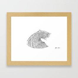 Drift wave Framed Art Print