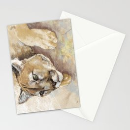 Captivated Mountain Lion Stationery Cards