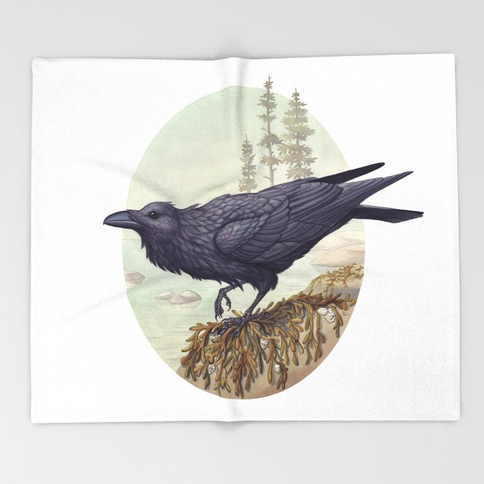 Raven of the North Atlantic Throw Blanket