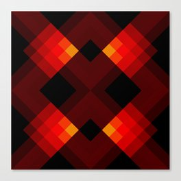 Abstract Retro Pattern 17 Canvas Print