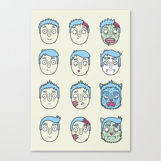 Monster Mash Up Canvas Print