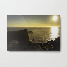 Sunset in Vik Metal Print