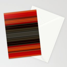 Sunset Orange and Grey Stripes Stationery Cards