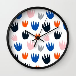 Colour Pop Flowers Wall Clock