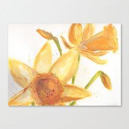 Watercolor Daffodils Canvas Print