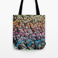 talking heads Tote Bags featuring Heads by Canson City