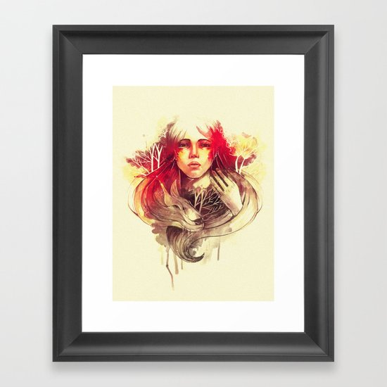 Purity In Red Framed Art Print